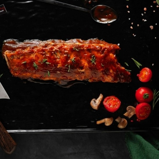 Baby Loin Ribs with BBQ Sauce